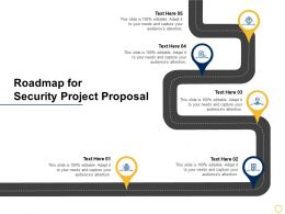 Roadmap For Security Project Proposal Ppt Powerpoint Presentation Graphics