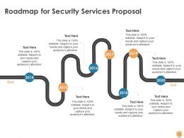 Roadmap For Security Services Proposal Ppt Powerpoint Presentation Summary Design Inspiration