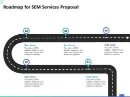 Roadmap For SEM Services Proposal Ppt Powerpoint Presentation Slides Tips