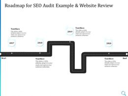 Roadmap For SEO Audit Example And Website Review Ppt Powerpoint Templates