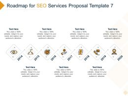 Roadmap For SEO Services Proposal 2014 To 2020 Ppt Powerpoint Presentation Layouts