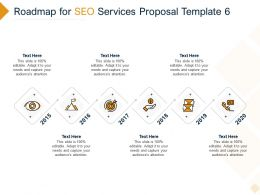 Roadmap For SEO Services Proposal 2015 To 2020 Ppt Powerpoint Presentation Pictures
