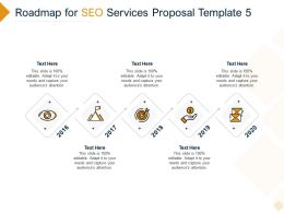 Roadmap For SEO Services Proposal 2016 To 2020 Ppt Powerpoint Presentation Slide