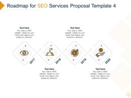 Roadmap For SEO Services Proposal 2017 To 2020 Ppt Powerpoint Presentation Gallery