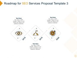 Roadmap For SEO Services Proposal 2018 To 2020 Ppt Powerpoint Presentation Summary