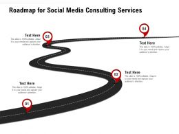 Roadmap For Social Media Consulting Services Ppt Powerpoint Presentation Portfolio