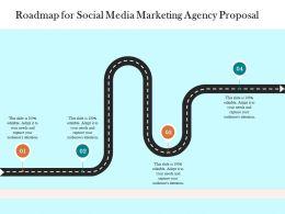 Roadmap For Social Media Marketing Agency Proposal Ppt Powerpoint Presentation Portfolio Vector