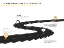 Roadmap For Solar System Proposal Ppt Powerpoint Presentation Styles Templates