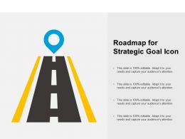 Roadmap For Strategic Goal Icon