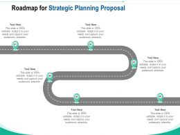 Roadmap For Strategic Planning Proposal Ppt Powerpoint Presentation Pictures