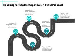 Roadmap For Student Organization Event Proposal Ppt Infographics