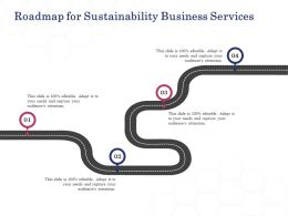 Roadmap For Sustainability Business Services Ppt Powerpoint Presentation Guidelines