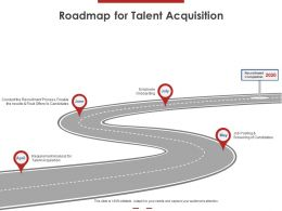 Roadmap For Talent Acquisition Ppt Powerpoint Presentation Professional Show