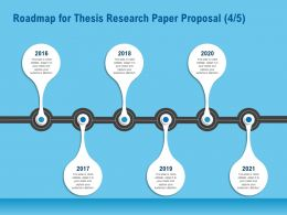 Roadmap For Thesis Research Paper Proposal R162 Ppt File Brochure