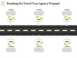 Roadmap For Travel Tour Agency Proposal Ppt Powerpoint Presentation Icon Visuals