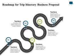 Roadmap For Trip Itinerary Business Proposal Ppt Powerpoint Presentation Infographic