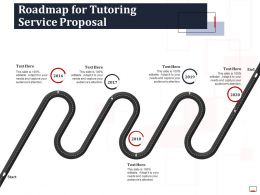 Roadmap For Tutoring Service Proposal Ppt Powerpoint Presentation Ideas Aids