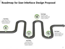 Roadmap For User Interface Design Proposal Ppt Powerpoint Presentation Model