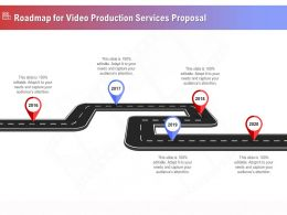 Roadmap For Video Production Services Proposal Ppt File Slides