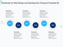Roadmap For Web Design And Development Proposal Template Ppt Powerpoint Presentation Deck