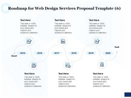 Roadmap For Web Design Services Proposal 2015 To 2020 Ppt Powerpoint Example