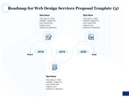 Roadmap For Web Design Services Proposal 2018 To 2020 Ppt Powerpoint Layouts