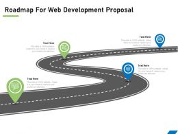 Roadmap For Web Development Proposal Ppt Powerpoint Presentation File Formats