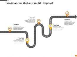 Roadmap For Website Audit Proposal Ppt Powerpoint Presentation Microsoft