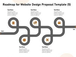 Roadmap For Website Design Proposal Five Ppt Powerpoint Styles Smartart
