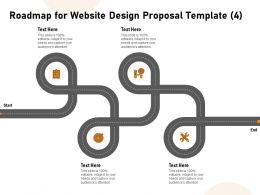 Roadmap For Website Design Proposal Four Ppt Powerpoint Portfolio Icon