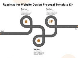 Roadmap For Website Design Proposal Three Ppt Powerpoint Brochure