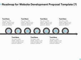 Roadmap For Website Development Proposal Template A1254 Ppt Powerpoint Presentation Gallery