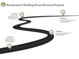 Roadmap For Wedding Event Services Proposal Ppt Model