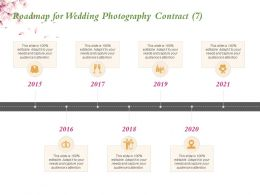 Roadmap For Wedding Photography Contract 2015 To 2021 Years Ppt Powerpoint Presentation Tips