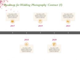 Roadmap For Wedding Photography Contract 2017 To 2021 Years Ppt Powerpoint Presentation Show