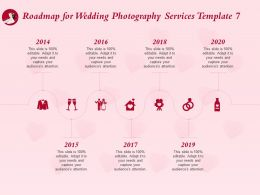 Roadmap For Wedding Photography Services Template 2014 To 2020 Ppt Powerpoint Rules