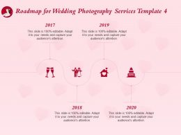 Roadmap For Wedding Photography Services Template 2017 To 2020 Ppt Portfolio Guide