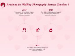 Roadmap For Wedding Photography Services Template 2018 To 2020 Ppt Powerpoint Ideas