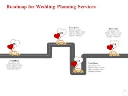 Roadmap For Wedding Planning Services Ppt Powerpoint Presentation Icon Influencers
