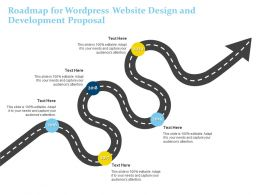 Roadmap For Wordpress Website Design And Development Proposal Ppt Powerpoint Outfit