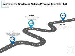 Roadmap For WordPress Website Proposal Template Ppt Powerpoint Presentation Information