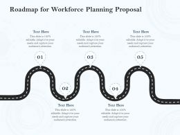 Roadmap For Workforce Planning Proposal Ppt Powerpoint Presentation Icon
