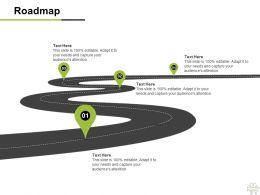 Roadmap Four Process C1166 Ppt Powerpoint Presentation File Slide Download
