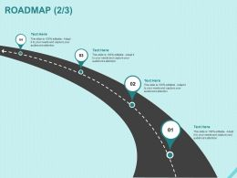 Roadmap Four Process C1215 Ppt Powerpoint Presentation Inspiration Professional