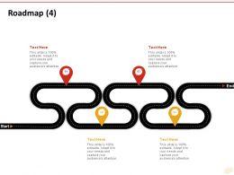 Roadmap Four Process C1222 Ppt Powerpoint Presentation Model Inspiration