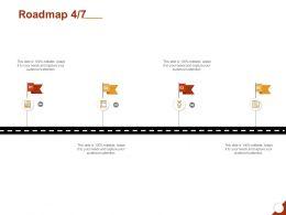 Roadmap Four Process C1267 Ppt Powerpoint Presentation Slides Icon