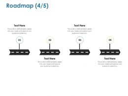 Roadmap Four Process Ppt Powerpoint Presentation Summary Icons