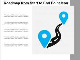Roadmap From Start To End Point Icon