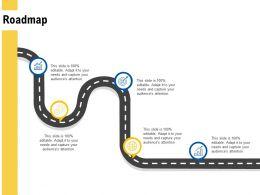 Roadmap Growth Arrow L498 Ppt Powerpoint Presentation Gallery Template