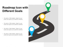 Roadmap Icon With Different Goals